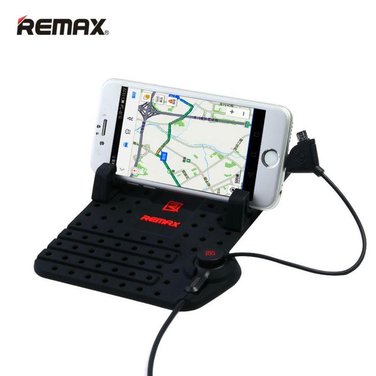 Remax Universal Mobile Car Phone Holder for iPhone Samsung Adjustable Bracket Phone GPS Holder Stand for Car Holder + USB Cable