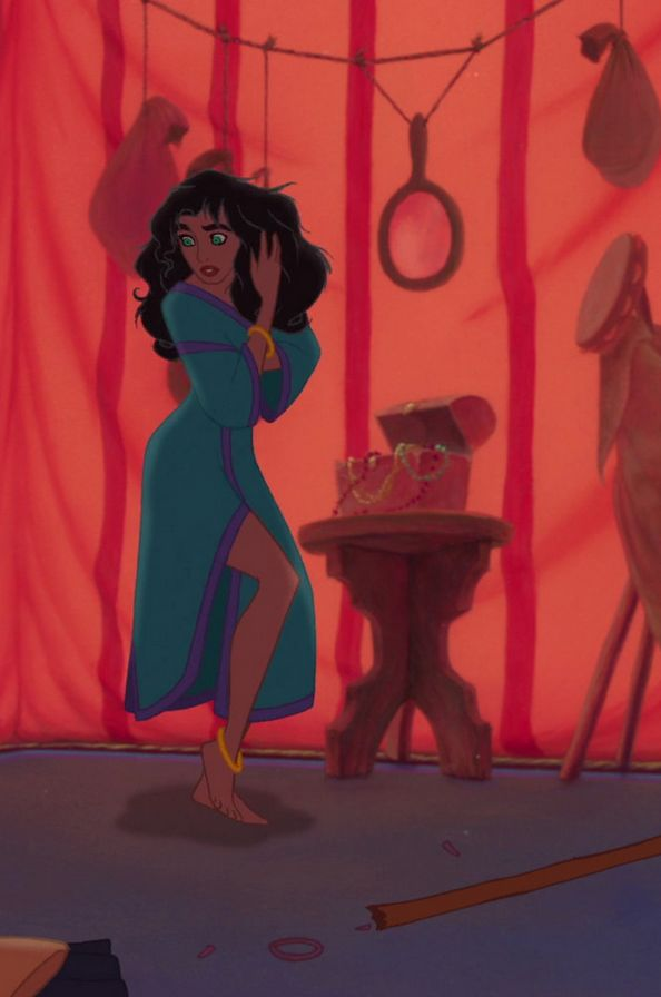 Day 10 Best hair: esmeralda... Reminds me of my hair :)