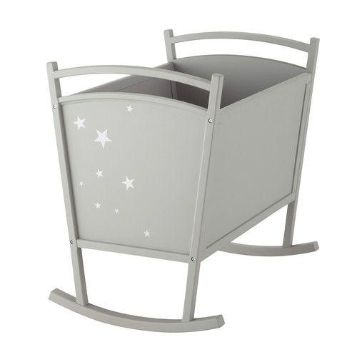 Berceau bébé en bois gris L 60 cm 199.9€ - Maisons du Monde