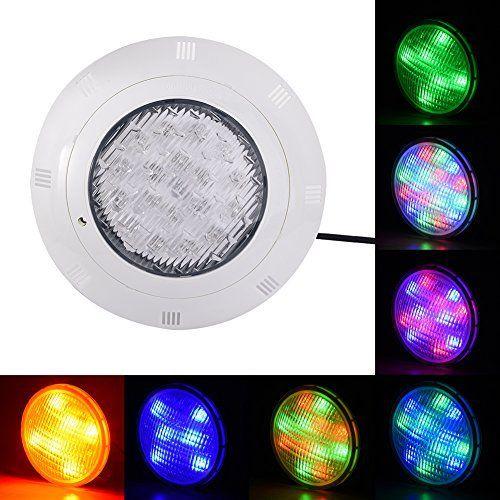 RGB 12V AC Lampe de Piscine Lumière LED Multicolore Projecteur Piscine Led Submersibles avec Télécommande, Etanche IP68 Éclairage…