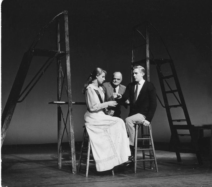"""Our Town"" by Thornton Wilder (above: a 1959 production) remains one of the most produced American plays."