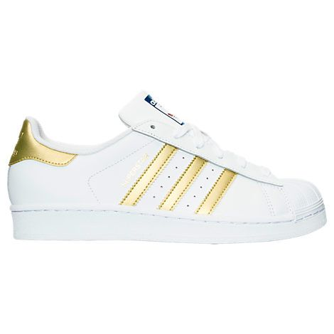 adidas Originals Superstar J GS Youth Shell Toe White Black Gold
