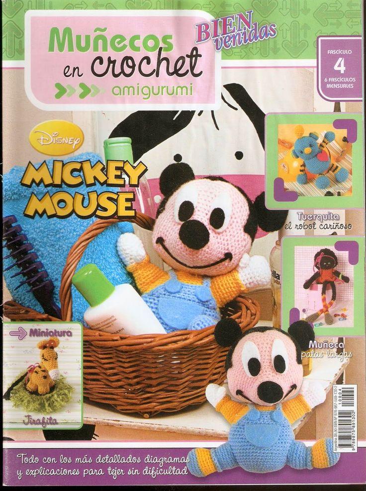 Revistas de manualidades Gratis: Amigurumi Mickey Mause