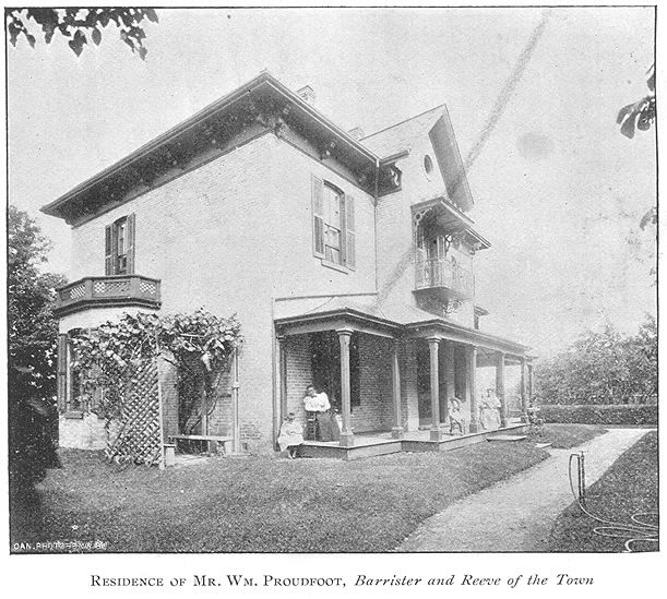 Proudfoot Residence, Goderich, Ontario c.1897 #Goderich #RediscoverGoderich #VintageGoderich