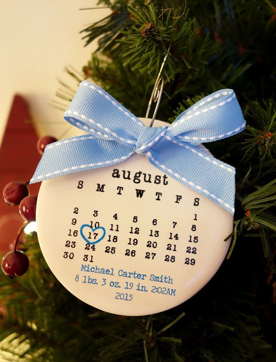 Babyu0027s First Christmas Ornament, Baby Ornament, Personalized Christmas  Ornament, Birth Date, Typewriter