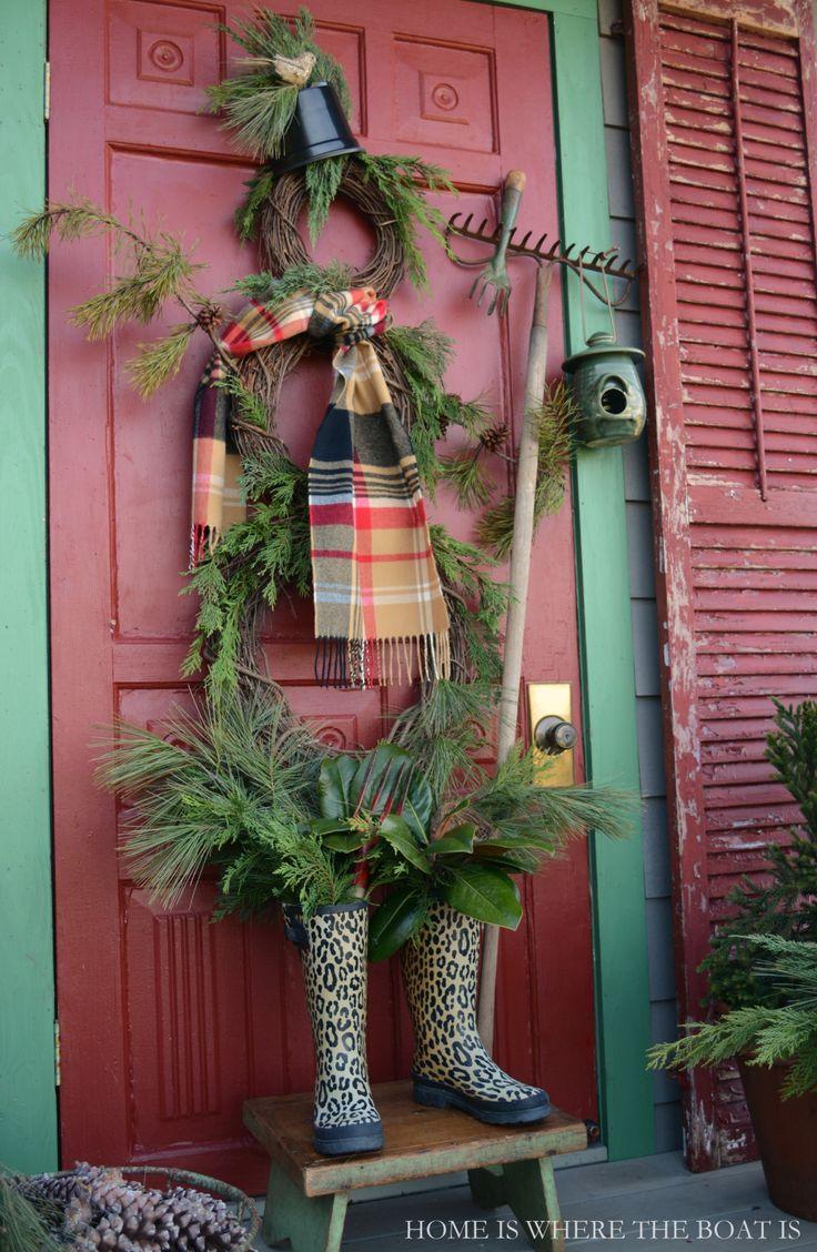 DIY Snowman Door Wreath