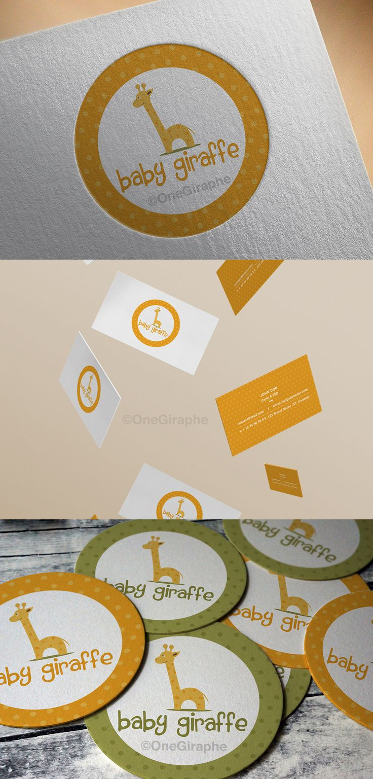 Branding for Sale! Logo + Color Variations + business card ( 2 sides )  Customisable Fonts and Colors  - Order at: Onegiraphe@gmail.com www.One-Giraphe.com #newborn #baby #logo #logodesign #cute #sleep #sleepy #graphic #design #designer #portfolio #behance #logopond #brandstack #store #kids #children #logodesign #design #designer #brand #brandidentity