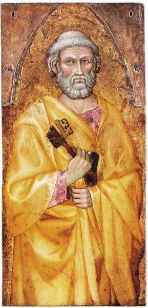 Taddeo di Bartolo - San Pietro - c. 1393 - tempera e oro su tavola - Musée du Petit Palais, Avignon