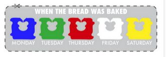 Want to know which loaf of bread to choose for the best freshness? Look for the color coded tags to be sure!