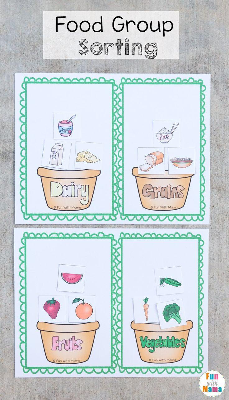 Food Groups Preschool Activity Pack Food groups