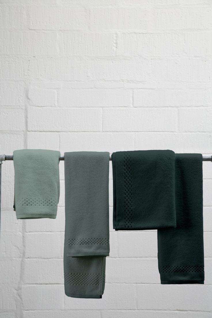 Seasons towels in green By Mette Ditmer