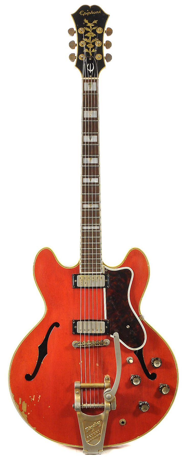 Vintage EPIPHONE Sheraton Cherry Red 1965 | Chicago Music Exchange