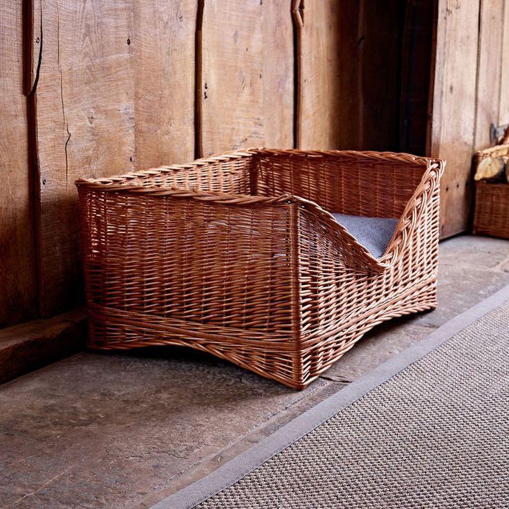 Large Luxury Wicker Pet Basket Wicker, Pet bed