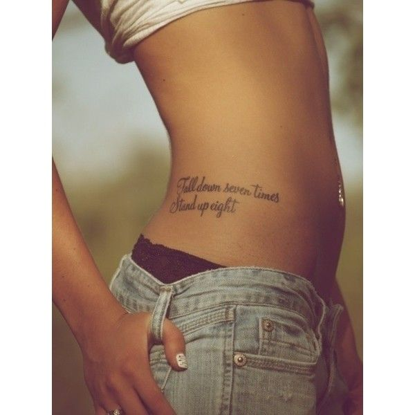 side tattoo. Love this tattoo placement