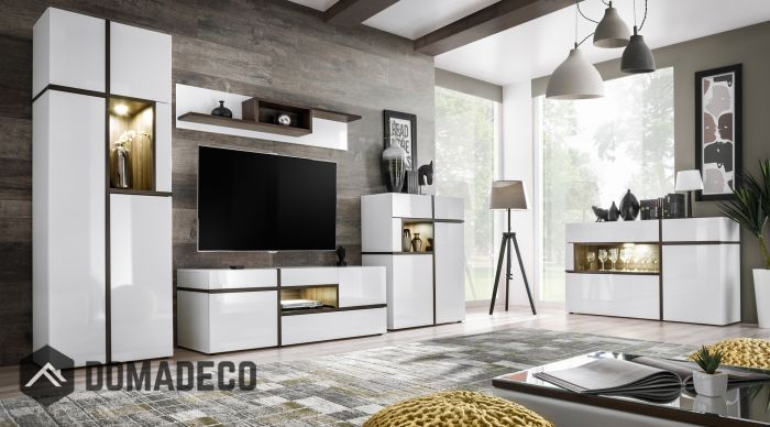 Chandler White Living Room Entertainment Center With Images