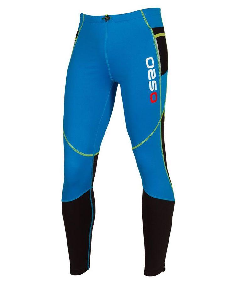 Pantalones térmicos. Tejido 100% elastico, transpirable. Dos bolsillos laterales de malla y bolsillo trasero con cremallera.