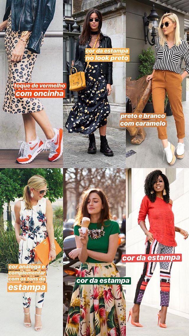 57b7e64e5 ideias para combinar estampa + cor! | Outfits in 2019 | Cor da moda ...