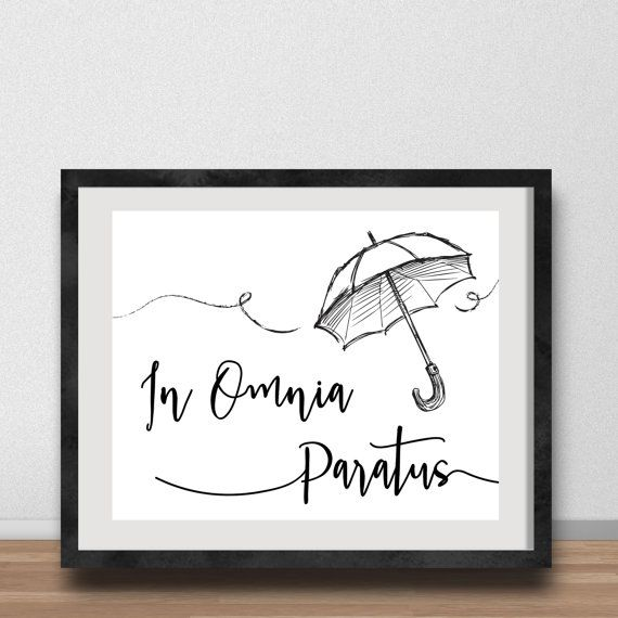 Gilmore Girls Poster- In Omnia Paratus, Ready for Anything, Life and Death Brigade, Rory and Logan, Office Art, Gallery Wall