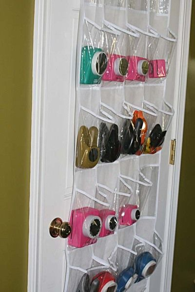 paper punches in shoe organizer. Here's another idea..