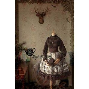 Magic Tea Party ~Raven and Writing-desk~ High Waist Lolita Skirt