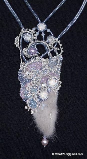 Veta's Art with Beads: First Kiss from Winter / Первый поцелуй зимы