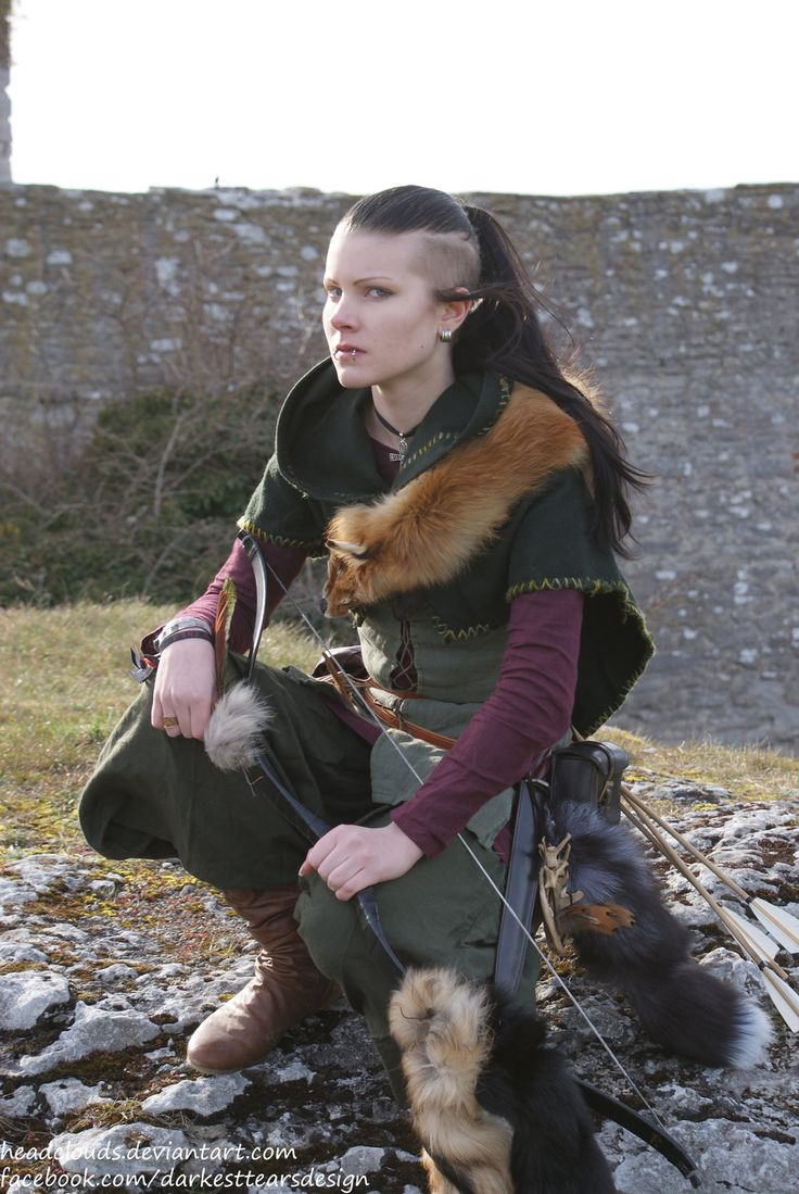 "larpgirl: "" larp mashup, Visby 5 by Headclouds "" tough medieval girl shaved head"