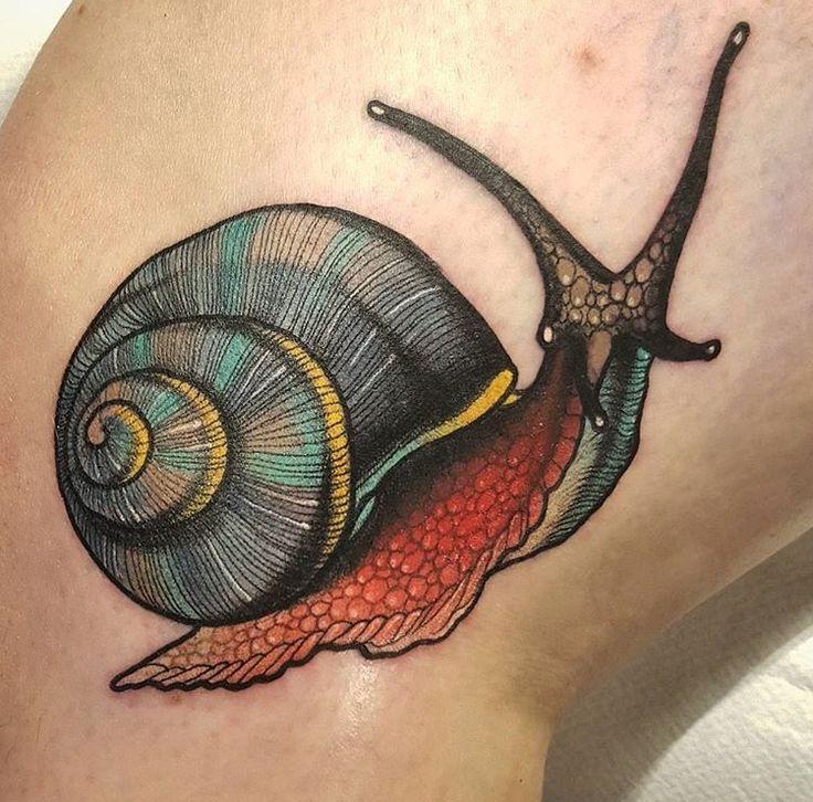 Nick the rookie snail tattoo
