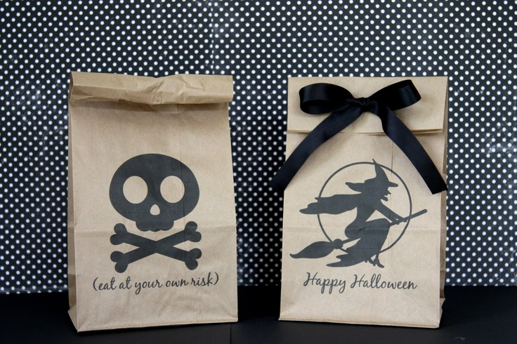 halloween lunch bags