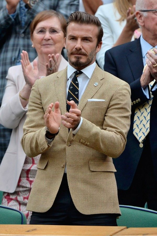 David Beckham In Ralph Lauren At The Wimbledon Tennis Championships 2014