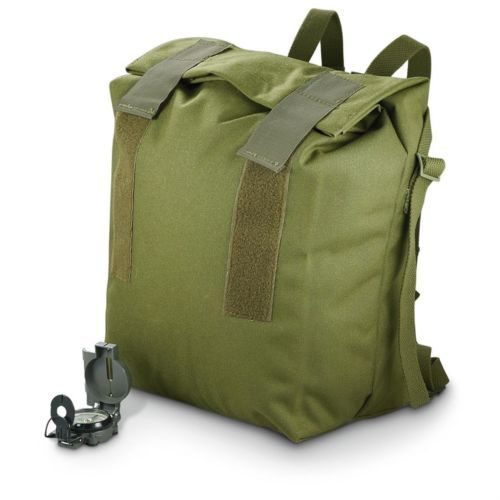 Vintage Scandinavian Army Roll Top Rucksack Backpack Bike Pannier | eBay