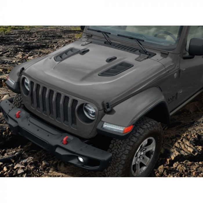 Mopar Rubicon Hood Kit With Vents Jeep Wrangler Jl 2018 2020