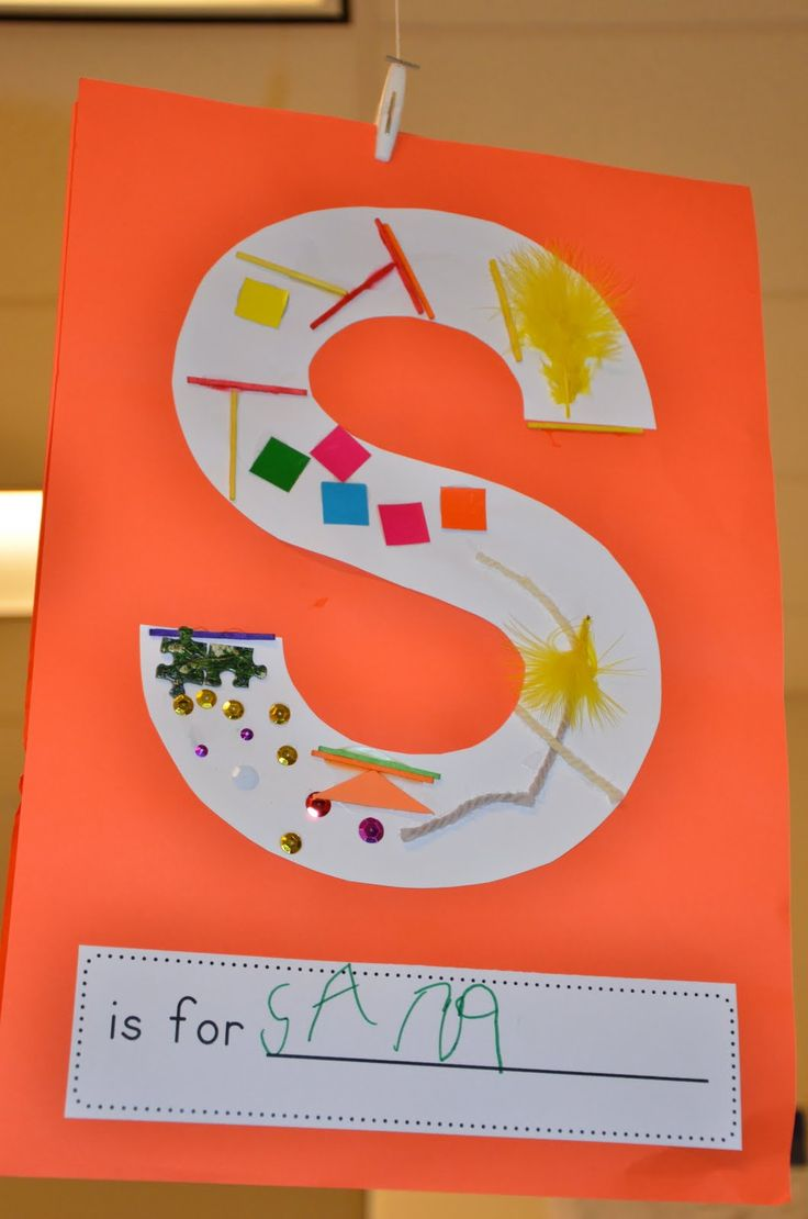 Free Kindergarten Idea: alphabet under construction letters - for learning first letter of their names.