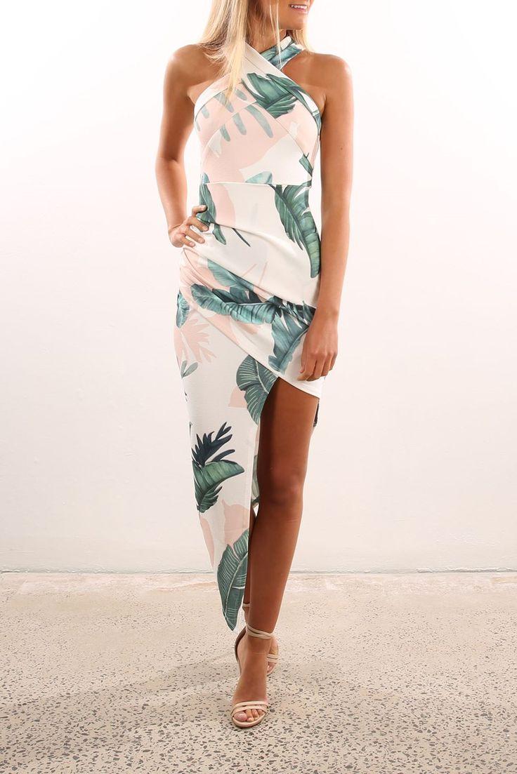 Mastermind Dress White Green Floral   Women's   Jean Jail   Clothes Online   Shoes   Womens Fashion   Mens Fashion