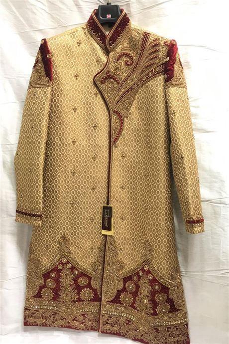 Golden Wedding Wear Readymade Sherwani