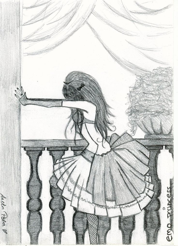 emo drawings | emo princess by aneta177 digital art drawings paintings people ...