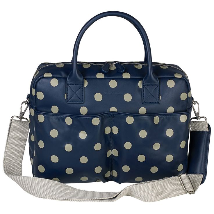 Button Spot Double Pocket Leather Nappy Bag | Changing Bags | CathKidston