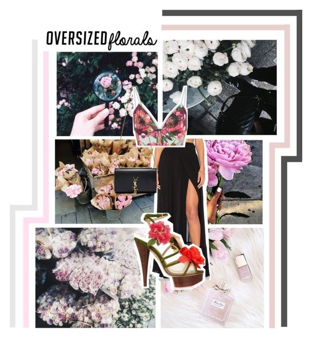 """""""Oversized Florals"""" by naivedreaming ❤ liked on Polyvore featuring Wildfox, Clover Canyon, Charlotte Olympia and Yves Saint Laurent"""