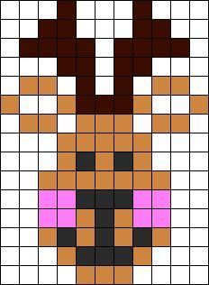 Reindeer Perler Bead Pattern | Bead Sprites | Holidays Fuse Bead ...