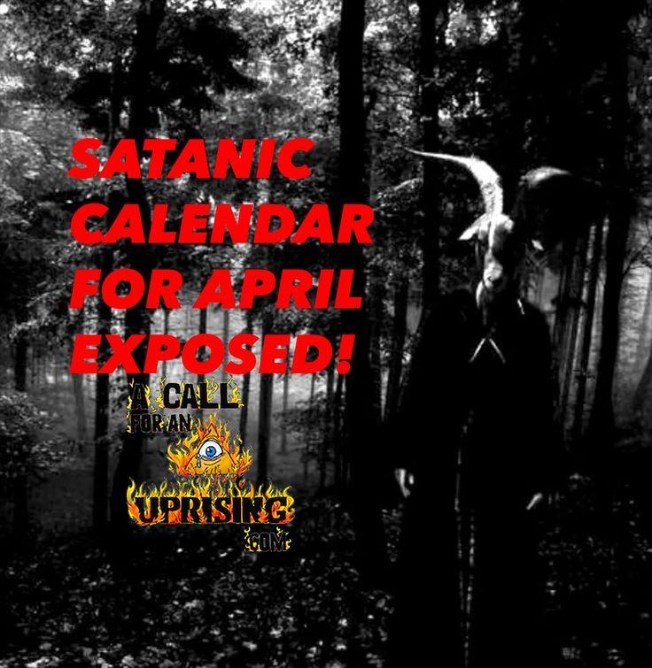 SATANIC CALENDAR FOR APRIL EXPOSED!