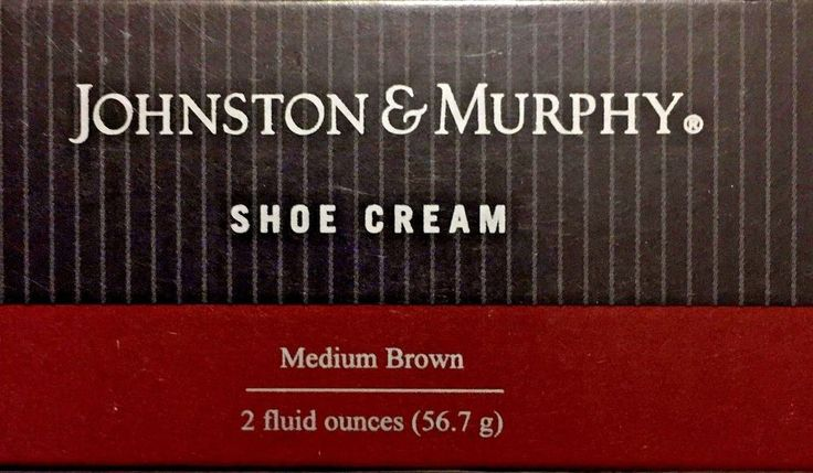 JOHNSON AND MURPHY SHOE CREAM MEDIUM BROWN WITH BUILT IN SPONGE APPLICATOR 2OZ  #JOHNSONANDMURPHY