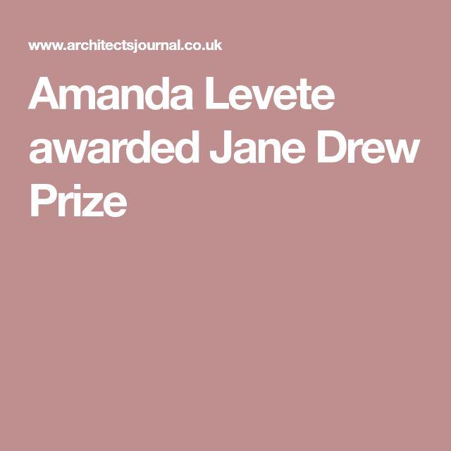 Amanda Levete awarded Jane Drew Prize