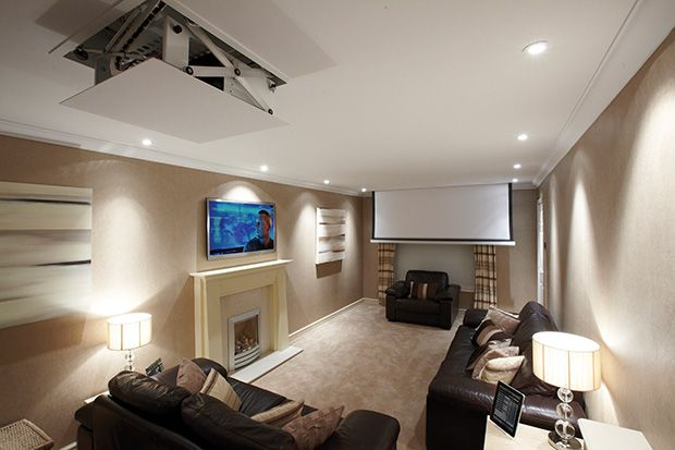 Home cinema hidden speakers and projector google search home theater pinterest home for Hiding a projector in living room