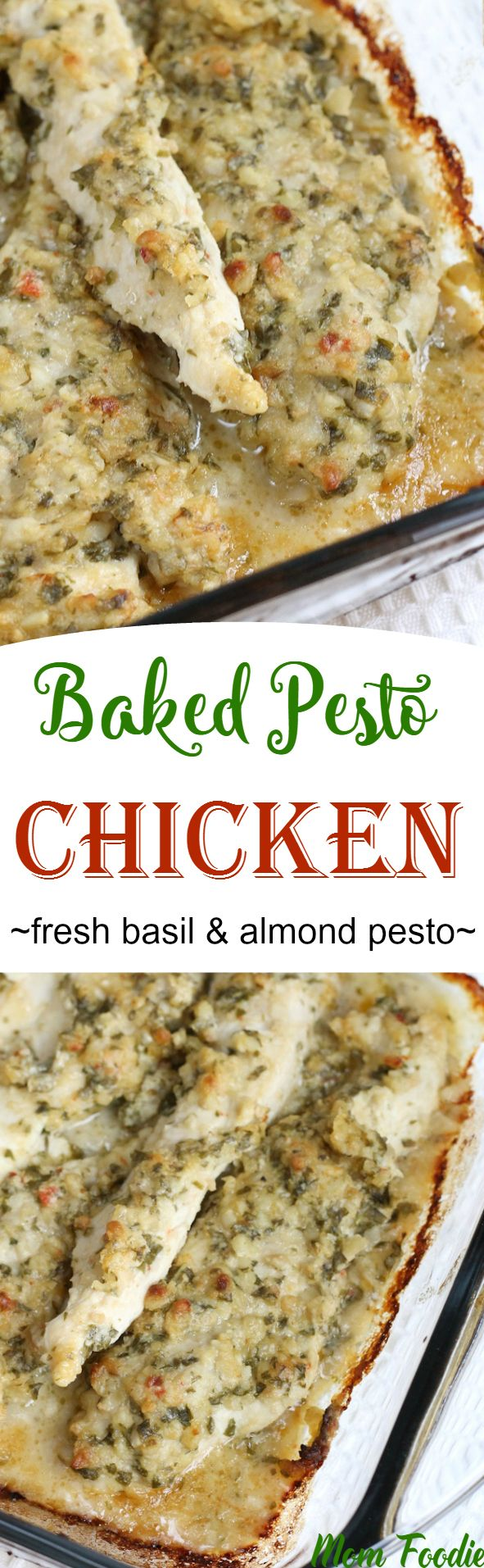 This quick & easy chicken recipe is a great way to use up an end of season abundance of basil.  Almonds rather than pignoli nuts are used to save on cost & Italian dressing provides oil, seasonings and a touch of tenderizing tang from the vinegar.  Lil' Foodie and I CHOWED this chicken.  I really …