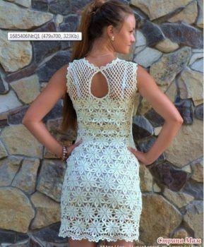 Платье летние снежинки