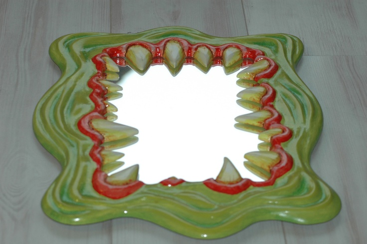 Monster Mirror, Art Mirror, Decorative Mirror.