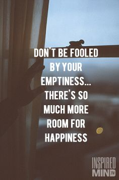 More room for happiness!