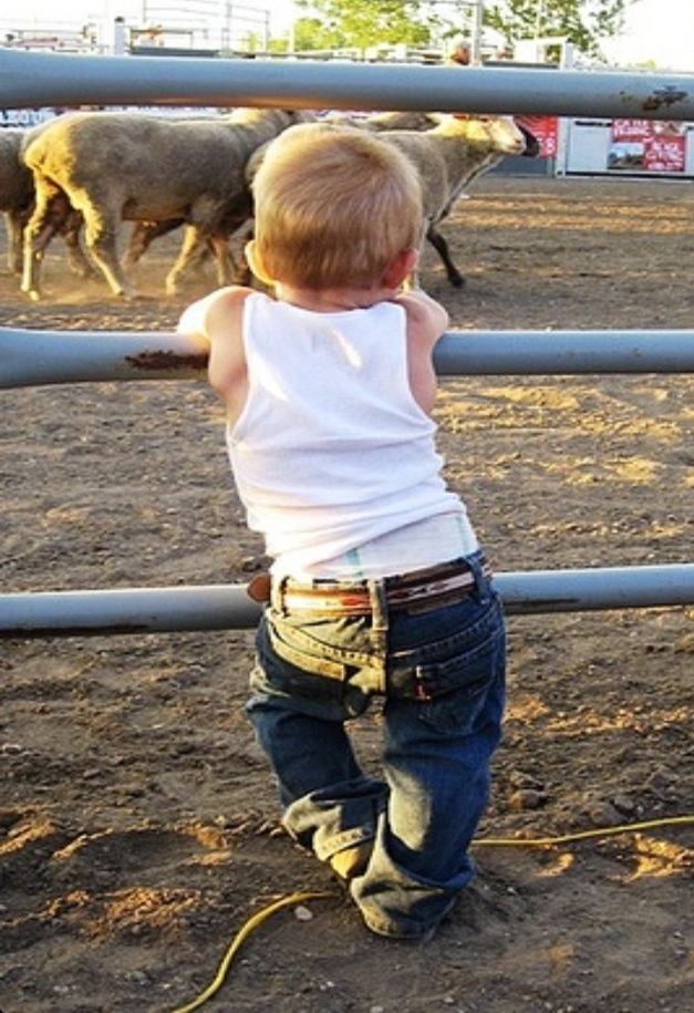 little BIG Man! on the ranch with my diaper on!