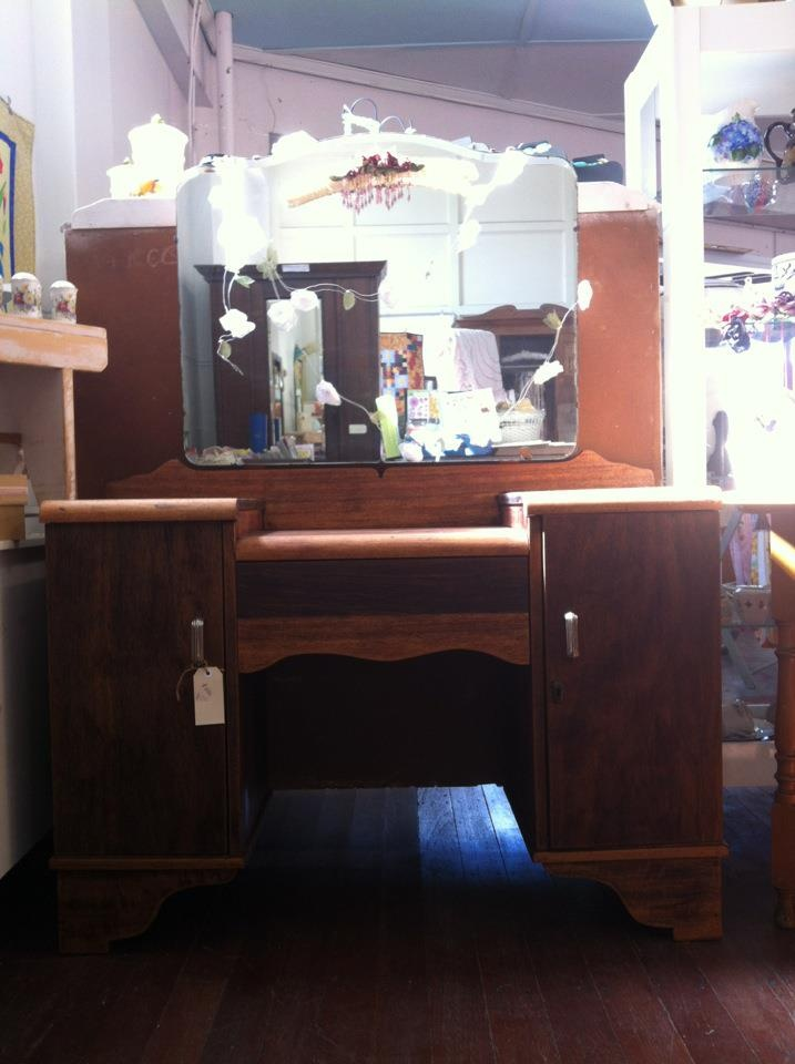 $210  RESTORED bedroom dresser with Mirror.  Collection from Forest Hill, Lockyer Valley, QUeensland.  May be able to deliver for a small fee.  email: liesa@handmadeheaven.com.au