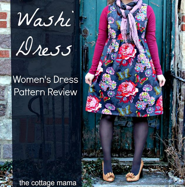 Washi Dress ~ alternate to shirring, casing for elastic, with measurement