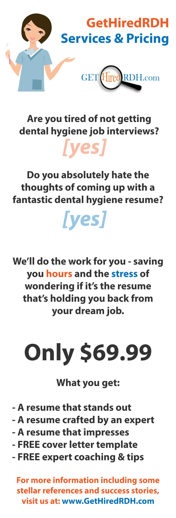31 best About Get Hired RDH images on Pinterest | Dental hygiene ...